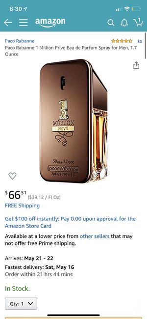 One million prive perfume for Sale in West Valley City, UT
