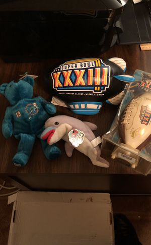 Super Bowl XXXIII (33) Collectibles Package Hosted in Miami, Florida! John Elway's Last Game for the Super Bowl Champion Denver Broncos! for Sale in Fairfax, VA