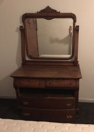 Antique Solid Oak Dresser for Sale in Raleigh, NC