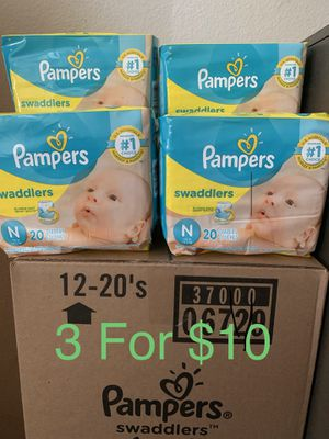 Pampers Swaddlers Newborn Diapers. 3 Bags for $10 for Sale in Los Angeles, CA