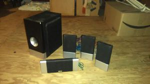 Black and silver stereo surround sound speakers for Sale in Odenton, MD