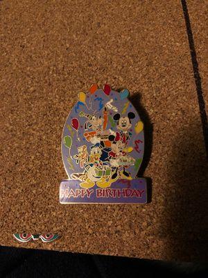 DISNEY DLR HAPPY BIRTHDAY FAB 5 MICKEY MINNIE GOOFY DONALD PLUTO PIN for Sale in Long Beach, CA