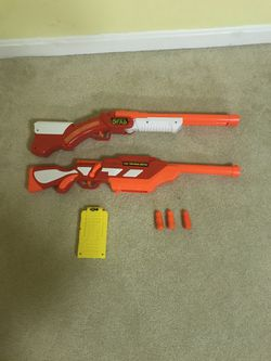 Walking Dead Zombies Nerf Shotgun Gun Set - TESTED and works for Sale in Burke,  VA