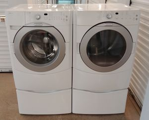 MAYTAG FRONT LOADERS ENERGY EFFICIENT WASHER AND DRYER ON PEDESTALS ON SALE WITH WARRANTY AND DELIVERY AVAILABLE for Sale in Irving, TX