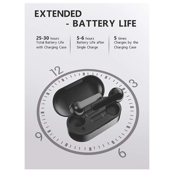 Wireless Earbuds, QCY Bluetooth 5.0 Wireless Headphones Smart Touch TWS Bluetooth Earphones Auto-Pair with 30H Playtime