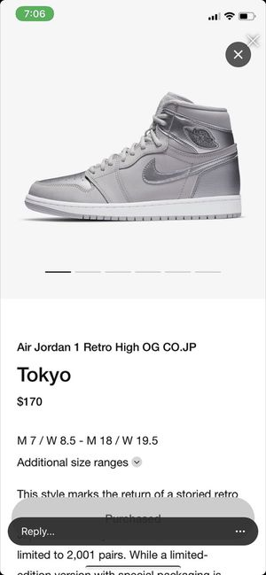 Jordan 1 Tokyo Size 10 Ds for Sale in Los Angeles, CA