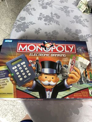 Electronic banking monopoly board game for Sale in Commerce Charter Township, MI