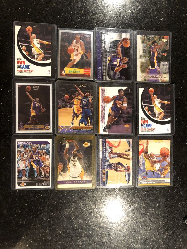 Lot of 12 cards! Kobe Bryant cards in mint condition! $40 or best offer!