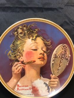 """Norman Rockwell Plate """"Making Believe at the Mirror"""" for Sale in Escondido,  CA"""