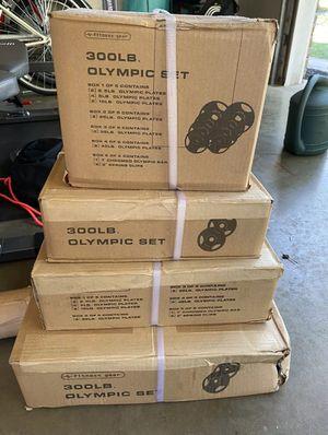Olympic weight set for Sale in Woodbridge, VA