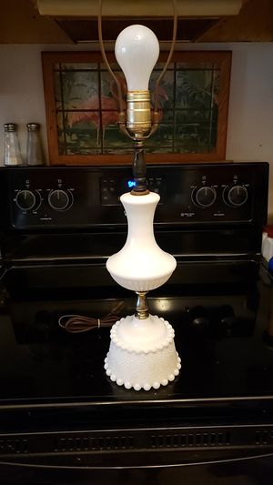 Vintage Milk Glass Lamp for Sale in Mechanicsville, VA