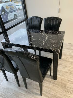 $39 Down  🍃🍂 BEST DEAL Sunny 5-Piece Black Dining Room Set | D2727 284 for Sale in Jessup, MD