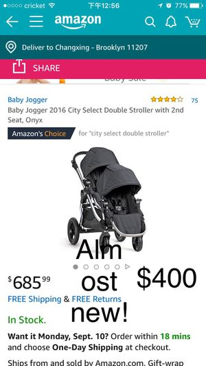 Double baby stroller $400 for Sale in Staten Island, NY
