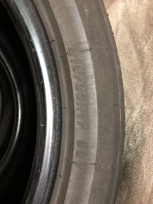 3 Tires set 215/50R17 for Sale in Boston, MA