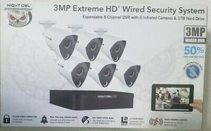 Night Owl 3MP Extreme HD Wired Security System 8 Channel DVR with 6 Infrared Cameras & 1TB Hard Drive for Sale in Pasadena, TX