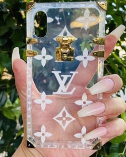 Brand new cool iphone XR case cover silicone rubber gold and clear hardware trunk girls women cute pretty for Sale in Loma Linda,  CA