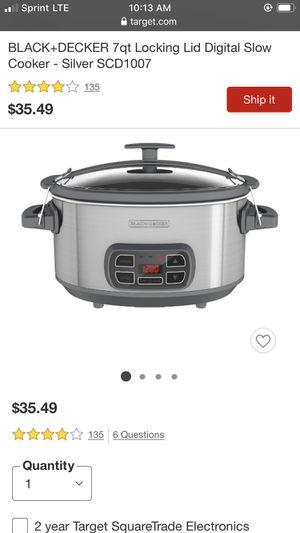 Digital slow cooker for Sale in Buena Park, CA