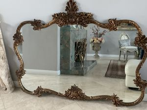 "67""x50"" huge antique mirror, frame is wood . This mirror is 95 yers old and is unique and characteristic. Must see ,is more beautiful in person for Sale in Laguna Niguel, CA"