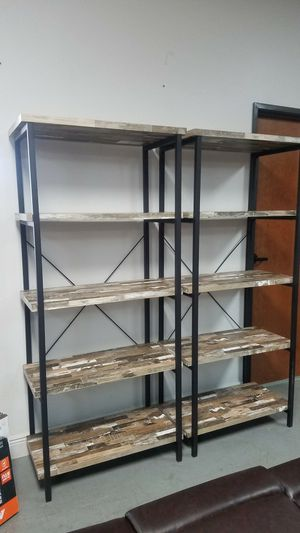 Weathered bookshelves 2 for 399 for Sale in Dallas, TX