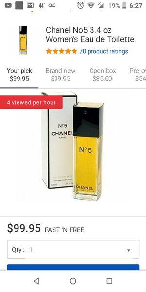 brand new women chanel perfume for Sale in Colton, CA