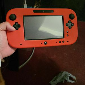 Black Wii U With Red Cover And 3 Games for Sale in Mission, TX
