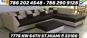 Leather sectional couch for Sale in Medley, FL