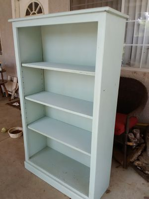 "Mint green bookcase 58"" talk by 35"" wide by 12"" depth for Sale in Menifee, CA"