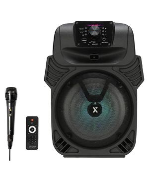 "Brand New 8"" woofer bluetooth speaker rechargeable. Wired Microphone and remote control available. Nuevos en caja. for Sale in Miami, FL"