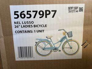 """Huffy 26"""" Light Blue Nel Lusso Women's Classic Cruiser Bike with Perfect Fit Frame for Sale in Anaheim, CA"""