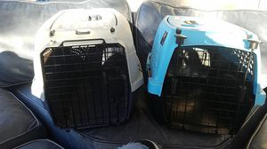 2 small- medium size kennels for dogs and cats IATA certified, pretty good condition $ 20 for both for Sale in Orlando, FL