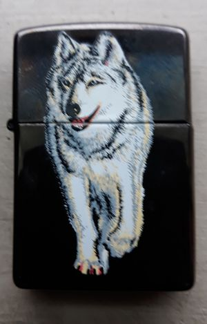 Wolf Zippo lighter for Sale in South Attleboro, MA