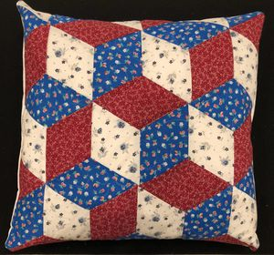 Rhombus block quilted pillow cover for Sale in Beaverton, OR