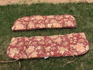 2 padded bench cushions both for $10 for Sale in Saint Germain, WI