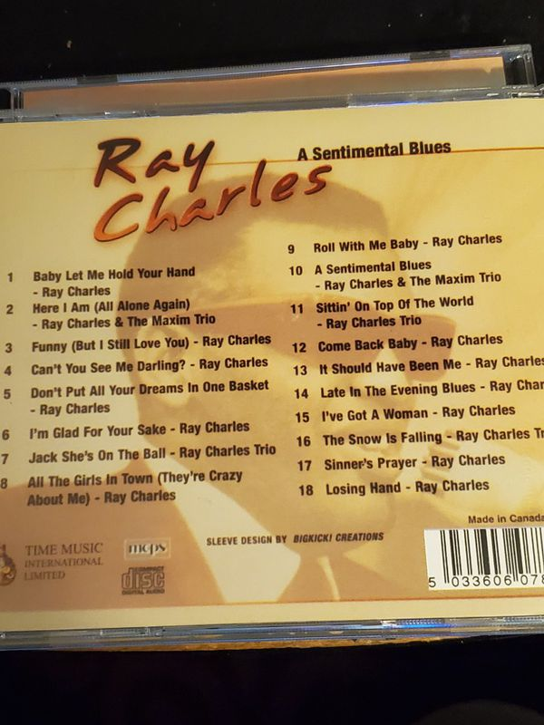 RAY CHARLES MASTER OF THE BLUE 3CD SET
