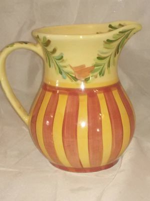 "Southern living at home siena large ceramic pitcher by Gail Pittman 8""tall 8""wide for Sale in Wichita, KS"