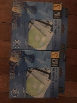 Removable CD disk sleeves - 50-pack x 2 for Sale in Petersburg, VA