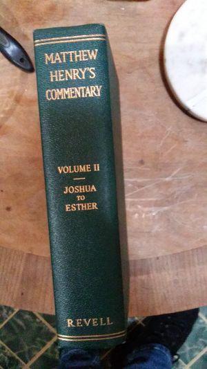 Matthew henry commentary volume 2 for Sale in Powder Springs, GA