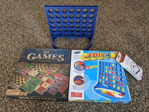 Kids lots of games join for connect for tic-tac-toe 100 games in one box 5 double-sided game boards for Sale in Cherry Hill, NJ