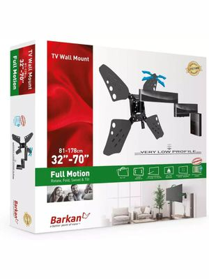 Barkan 32-70 inch Full Motion - 4 Movement Flat/Curved TV Wall Mount 88 lbs for Sale in Kent, WA