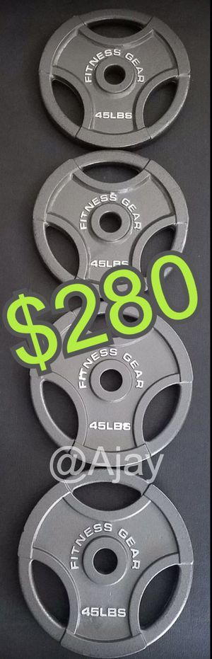 New!!! Olympic Weight Plates (4x45lbs) for Sale in Chino Hills, CA