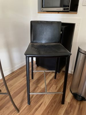 Two leather BAR height stools for Sale in San Diego, CA