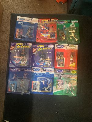 9 vintage sports action figure collectibles (NFL, NHL, NBA, MLB) for Sale in Conshohocken, PA