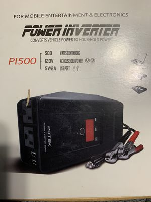Potek power inverter P1500 500watt for Sale in Austin, TX