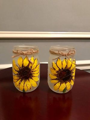 Sunflower mason jars for Sale in Vienna, VA
