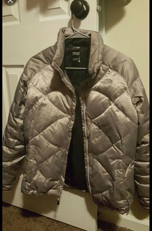 Woman silver northface size L for Sale in Colorado Springs, CO