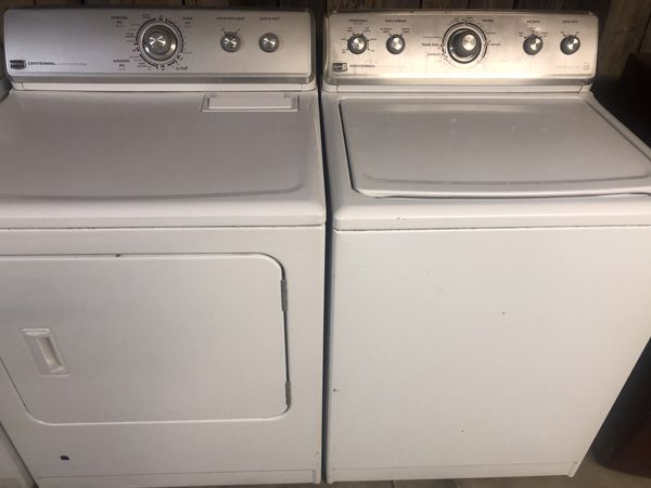 Maytag washer and gas dryer both. Work great