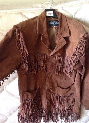 L- Diamond Leathers Jacket with fringes for Sale in Warden, WA