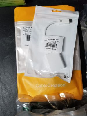 USB C to VGA Cable adapter for Sale in El Paso, TX