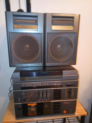 Citizen home theater stand system HI -FI music Tower .Radio FM/ AM / tape / phono FM Stereo microphone sockets for Sale in Warren, MI