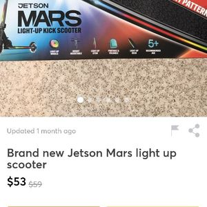 Jetson Mars Light Up Kick Scooter for Sale in Elgin, SC